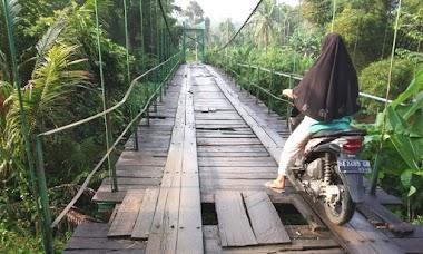 Jembatan Gantung IV Jurai Rusak, Keselamatan Warga Terancam