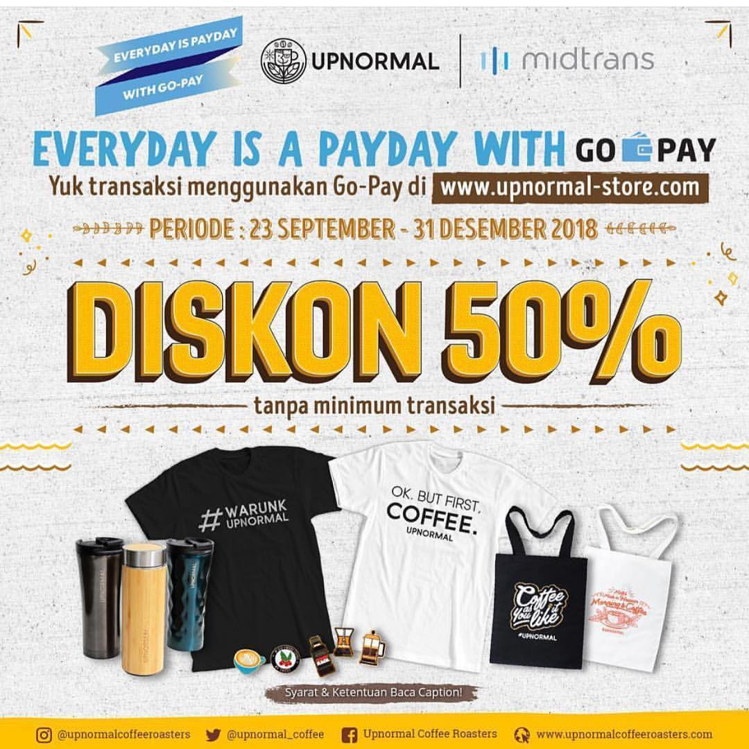 Upnormal - Promo Diskon 50% Merchandise di Upnormal Store Pakai GOPAY