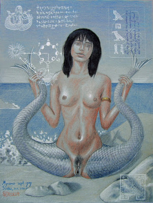 sirène,dessin,mykonos,dessin,mythologie