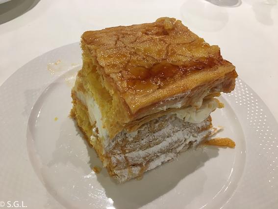 Tarta de hojaldre restaurante Casa Ojeda en Burgos