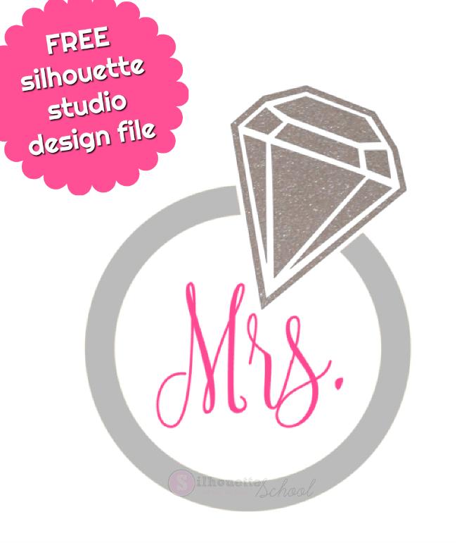 Free Silhouette Studio Design File Diamond Ring