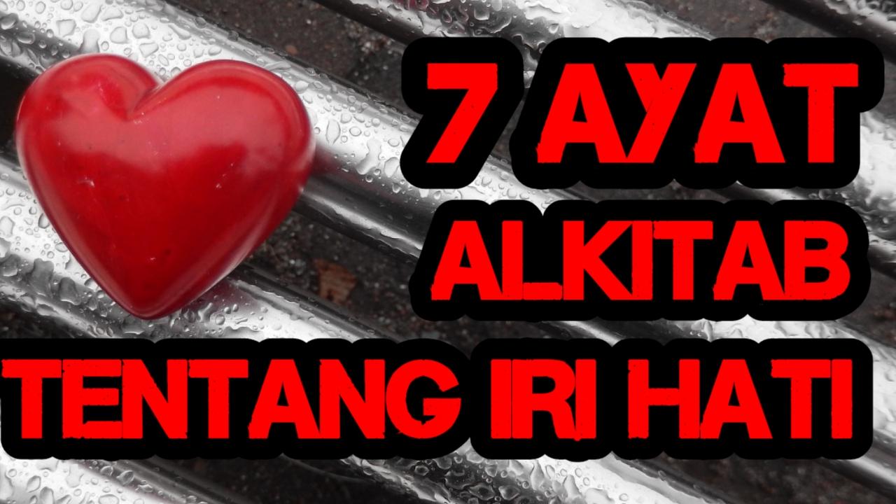 7 Ayat Alkitab Tentang Iri Hati