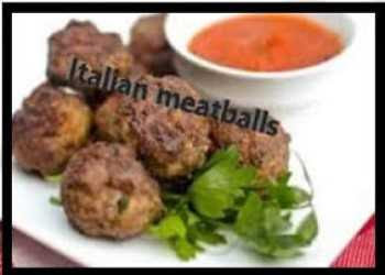 Italian Meatballs With Golden Raisins