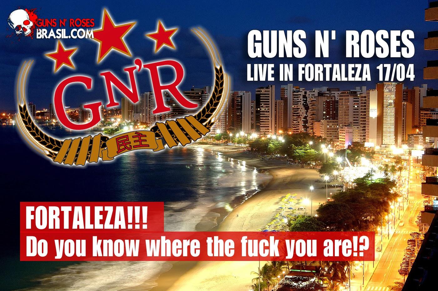 Ingressos Do Show De Guns N Roses Em Fortaleza Variam: DIVA POP NEWS
