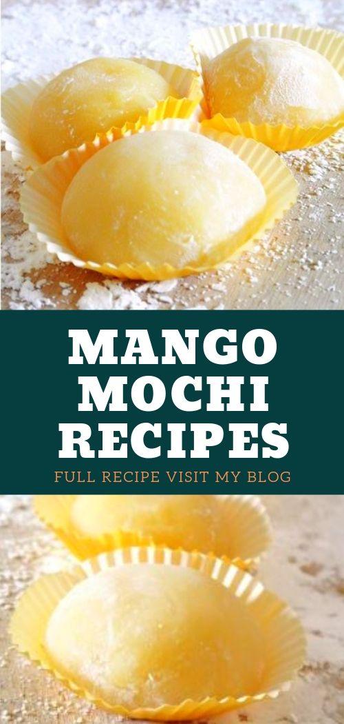 Mango Mochi Recipes. Mochi brownies, Chichidango recipe, Dessert recipes, Asian desserts, Japanese dessert, Mochi cake, Mochi recipe easy, Diy mochi, Mochi how to make, Bento box recipes, Japanese sweets. #mangomochi #mochirecipes #desserts #mochicake #recipes