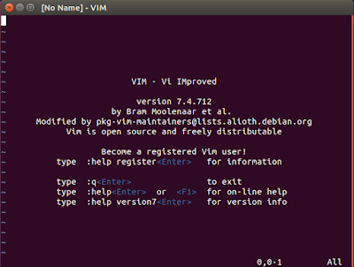 Vim welcome screen