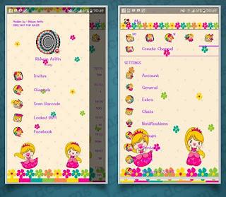 Download bbm mod v3.3.4.48 Tema Kartun princes RA Apk Terbaru