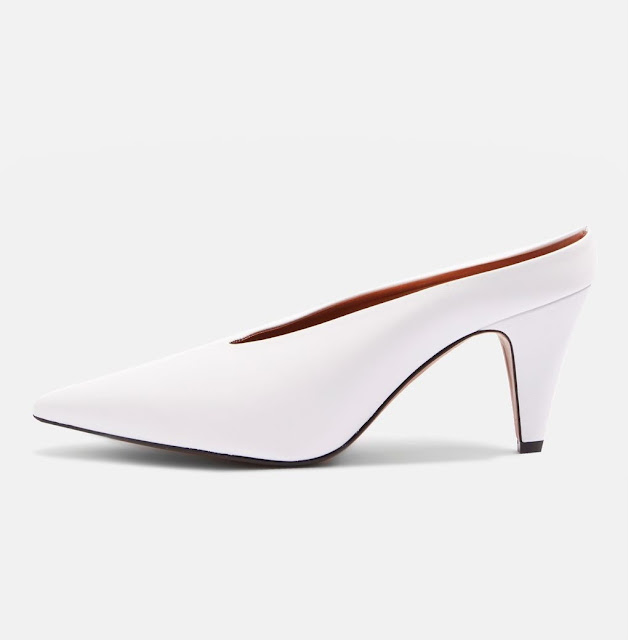 Topshop white mules for white shoe trend