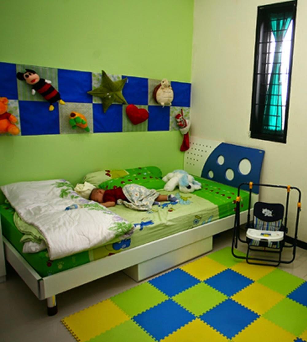 desain kamar tidur sederhana warna hijau | sobat interior rumah