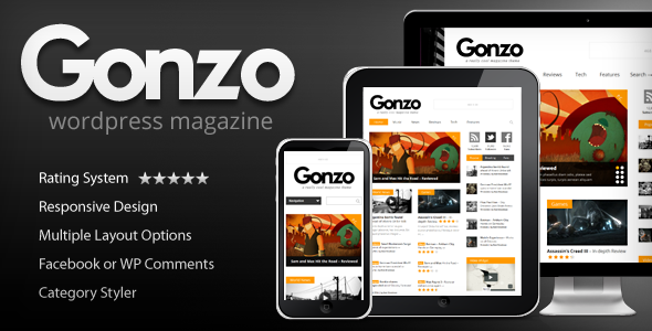 Download Free Gonzo v1.9.7-Clean,Responsive WP Magazine Theme