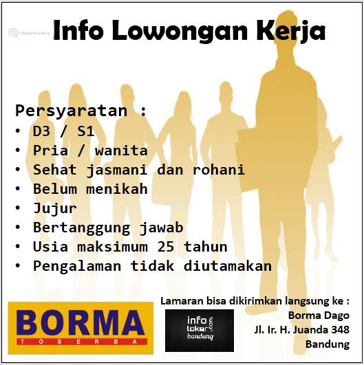Lowongan Kerja Borma Toserba Dago Bandung Maret 2017