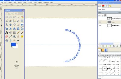 Cara Memutar Teks Melengkung di GIMP 7