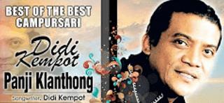 Lirik Lagu Panji Klanthong - Didi Kempot
