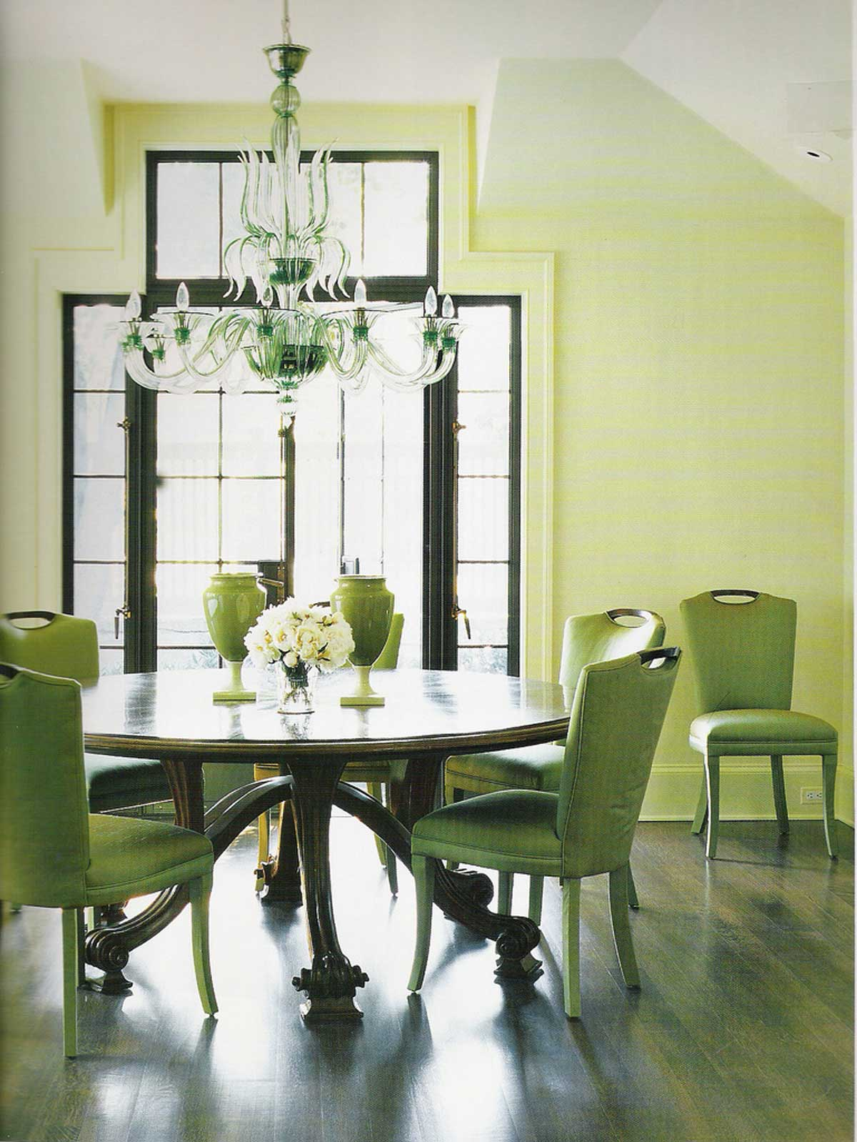 Green Dining Room: Heir And Space: Decorating With Green