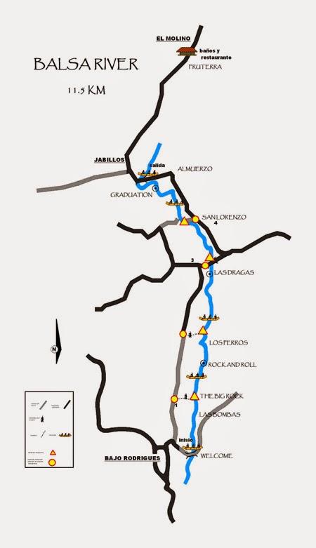 Mapa de descenso de Costa Rica Descens