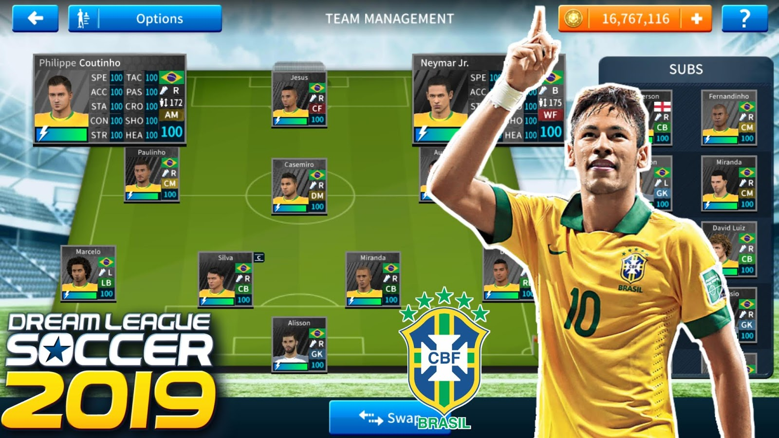 How To Create Brazil Team In Dream League Soccer 2019   Android/iOS