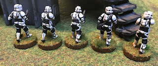 The rear of the Imperial Scout Troopers