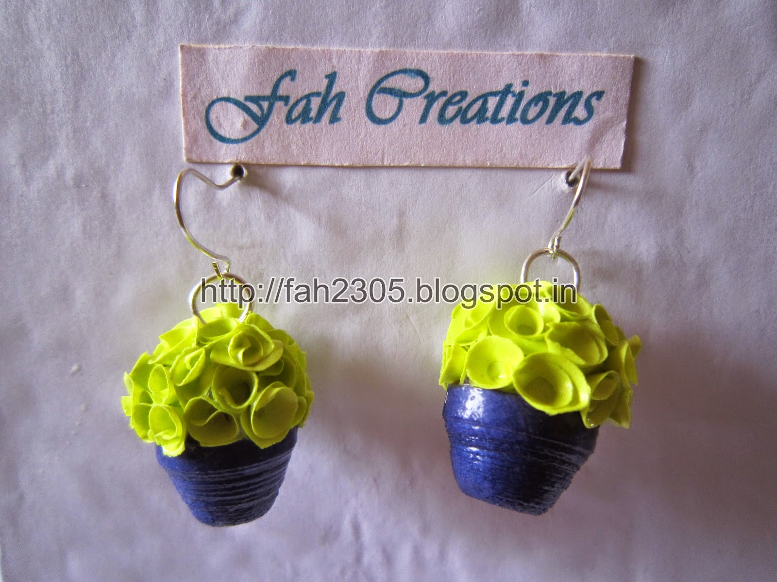 348f9be70 fah creations handmade jewelry paper quilling flower pot earrings .