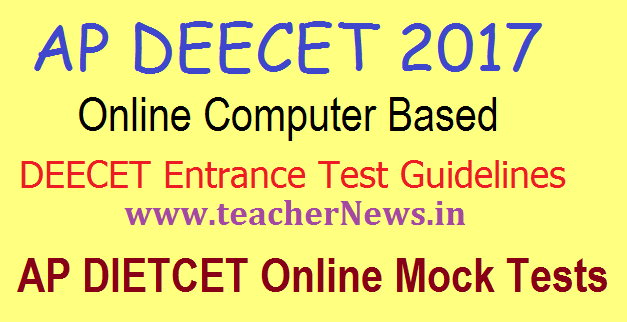 AP DEECET 2017 Online Exam Guidelines CBT/Computer Based Test Insrtuctions