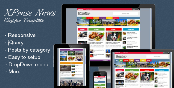 Xpress news blogger template
