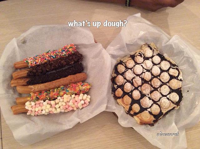 What's Up Dough- Glazed Churros and HongKong Waffle