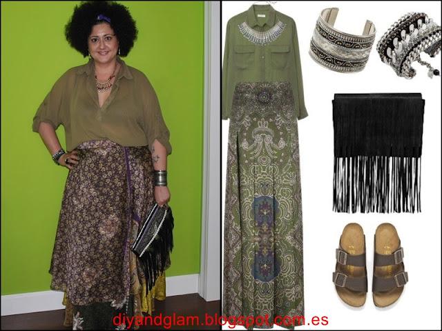 Look maxi falda india