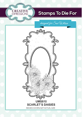Creative Expressions Stamps To Die For Scarlet's Daisies UMS810