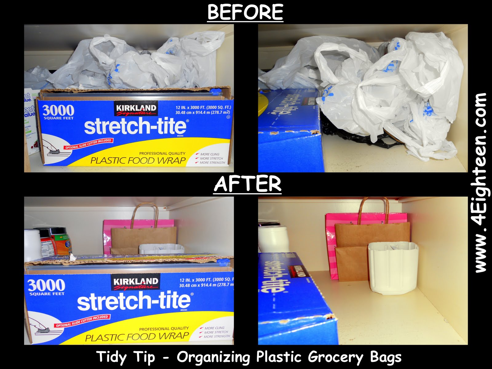 4eighteen Tidy Tip Organizing Plastic Grocery Bags