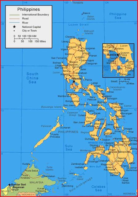 Gambar Peta Filipina