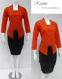 Baju Blouse Batik Kartini Orange