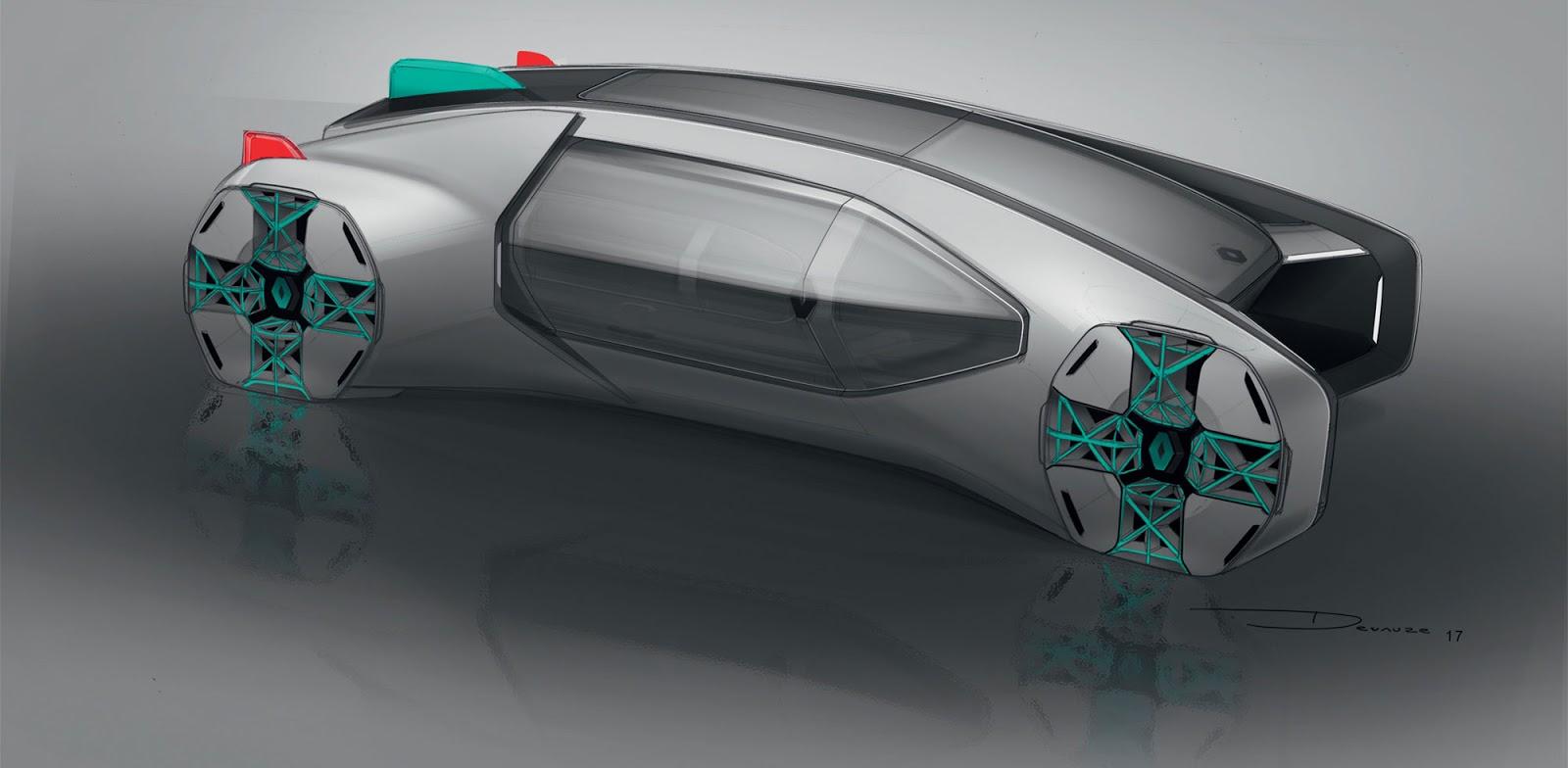 Renault EZ-GO Concept sketch by Marc Devauze