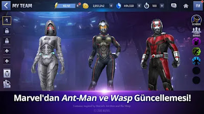 Marvel Future Fight'a Ant-Man ve Wasp Geldi