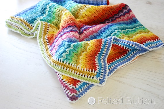 Illuminations Blanket Free Crochet Pattern by Felted Button