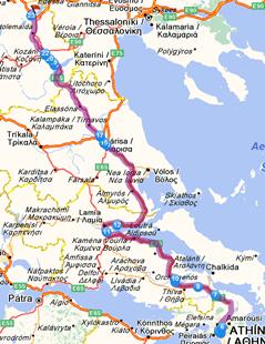 Αποτέλεσμα εικόνας για δρόμος Θεσσαλονίκη Αθήνα