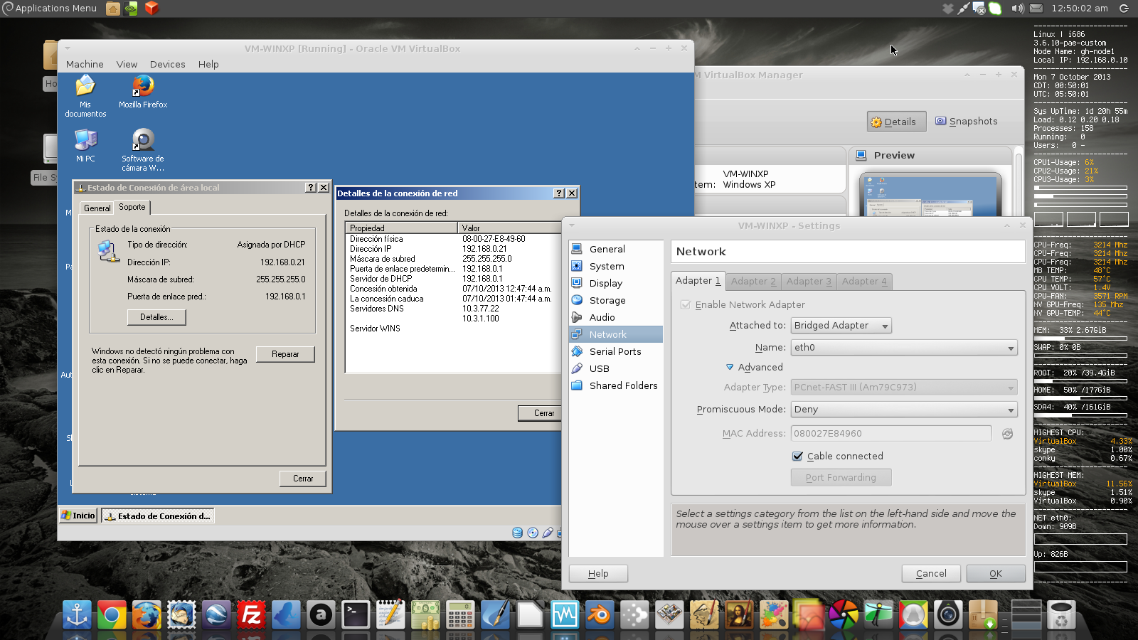 Virtualbox bridged vpn linux