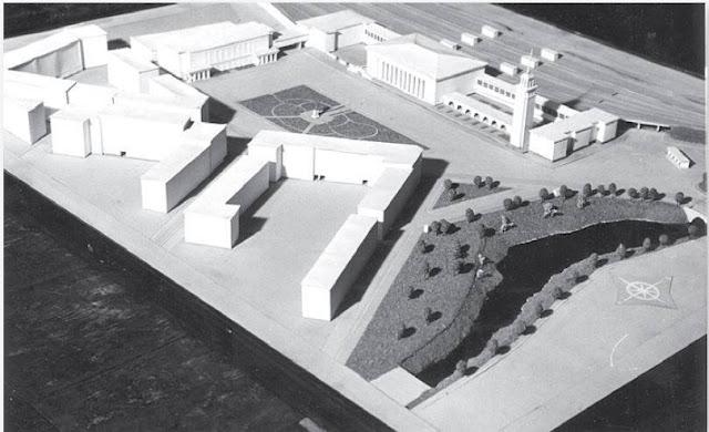 1950-е годы. Один из проектов реконструкции Рижского пассажирского ж/д вокзала.