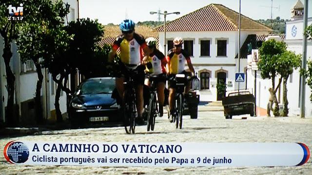 Resultado de imagem para De Lisboa ao Vaticano, de bicicleta, contra o desperdício alimentar