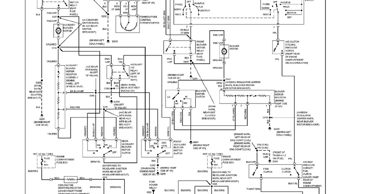 Ford Wiring Diagrams: 1997 Ford Windstar System Wiring