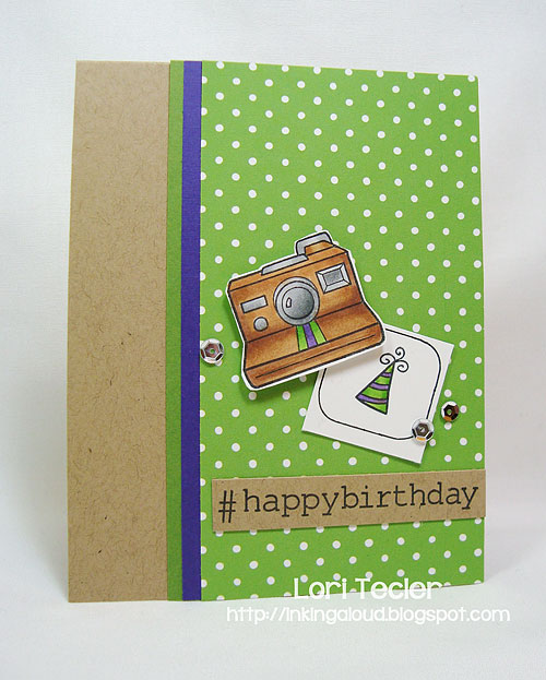Happy Birthday-designed by Lori Tecler/Inking Aloud-stamps from Lawn Fawn