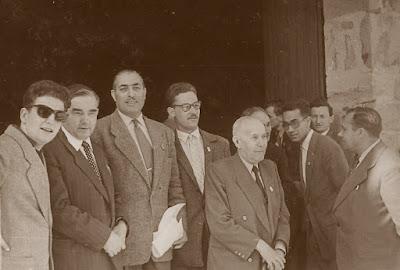 Francino con el Comité Organizador del II Campeonato Mundial Universitario Lyon 1955