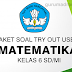 Download Paket Soal Try Out USBN Kelas 6 SD/ MI Mapel Matematika