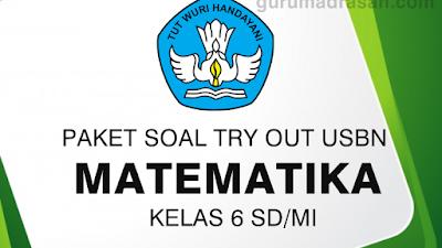 Download Paket Soal Try Out USBN Kelas 6 SD/ MI Mapel Matematika