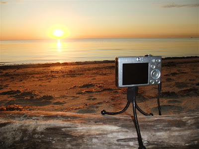 Canon camera, CHDK, tripod, time lapse sunset