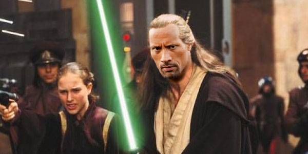 Qui-Gon Jinn The Rock actor Star Wars