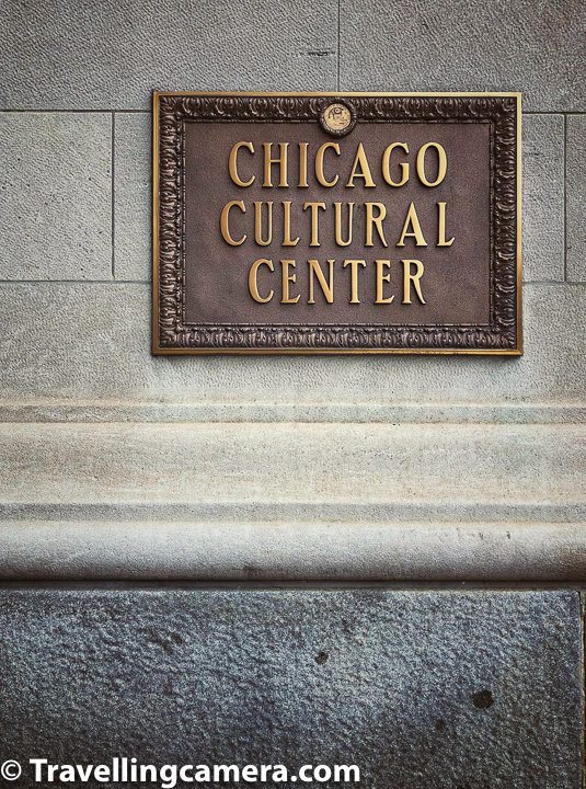 The Chicago Cultural Center is one of the Landmark buildings in Chicago city. This space is curated and maintained by Chicago's Department of Cultural Affairs. The Chicago Cultural Center is also known as a place for Special Events. For example the Mayor of Chicago has welcomed Presidents and royalty, diplomats and community leaders.