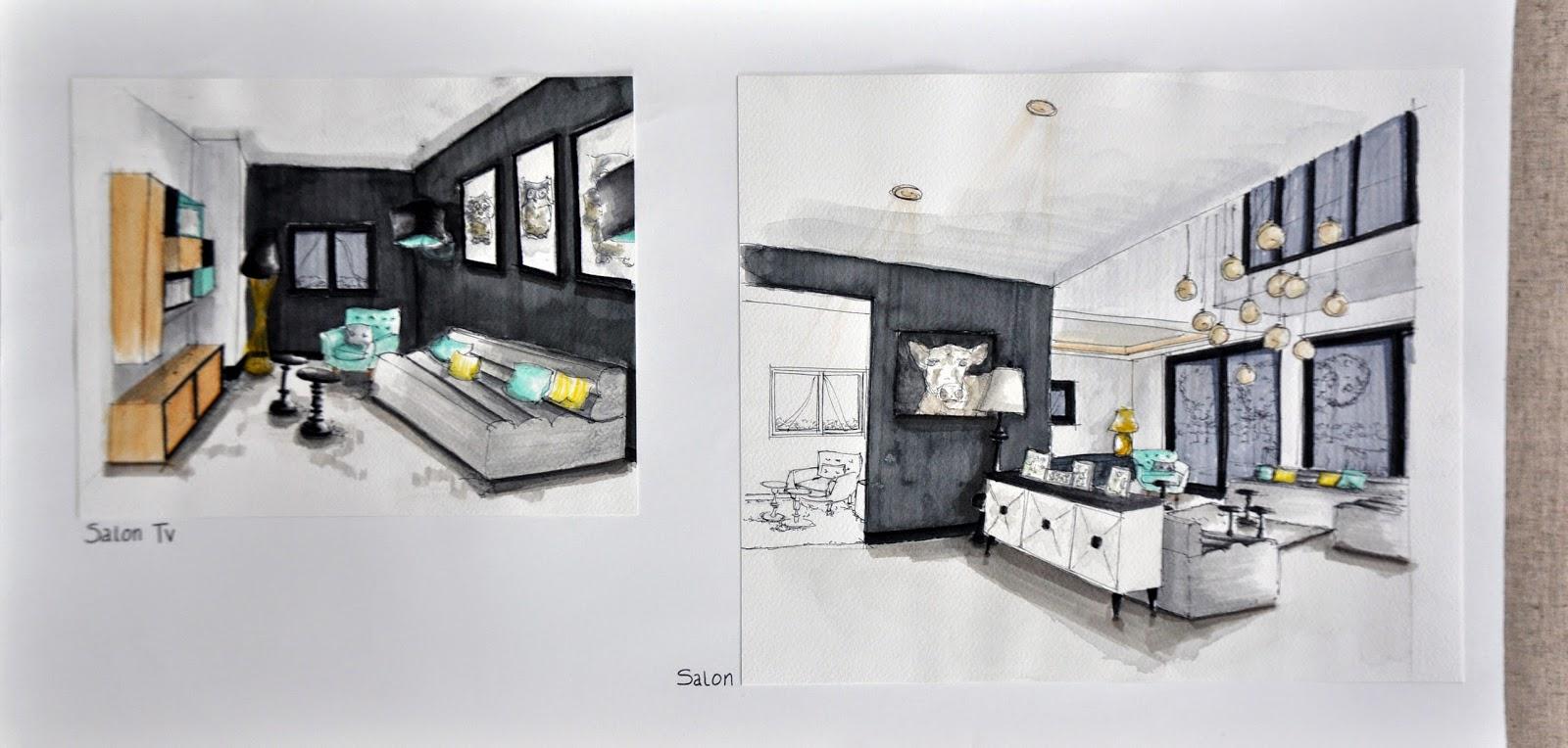projet dipl me architecture d 39 int rieur floriane. Black Bedroom Furniture Sets. Home Design Ideas