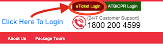 APSRTC eTicket Login Button Registration procedure step 1