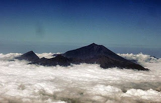 Mount Rinaji in Clouds, Lombok
