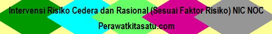 Intervensi Risiko Cedera dan Rasional (Sesuai Faktor Risiko) NIC NOC