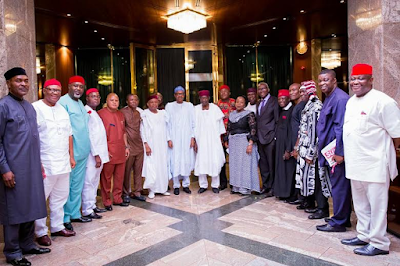 President Buhari receives South East Group for Change led by Senator Ken Nnamani5555